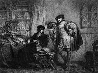 M-675 Desiderius Erasmus, humanist met een vriend in zijn studeervertrek.
