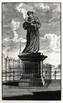 M-683 Standbeeld aan de Melkmarkt van Desiderius Erasmus, humanist.
