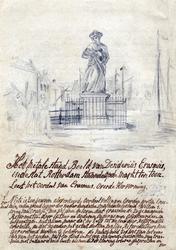 M-687 Standbeeld op de Grotemarkt van Desiderius Erasmus, humanist.