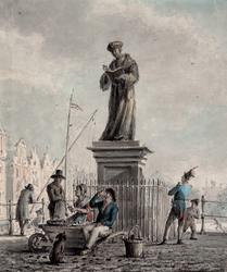 M-688 Standbeeld van Desiderius Erasmus, humanist op de Grotemarkt.