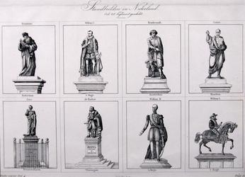 M-703 Standbeeld van Desiderius Erasmus, humanist met zeven andere standbeelden die in Nederland voorkomen.