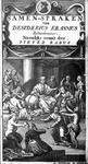 P-004513 Desiderius Erasmus op het titelblad van zijn boek Samenspraken.