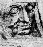 P-021009 Erasmus op zijn sterfbed. Foto naar een anonieme tekening ( Bazel ? ).