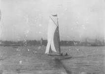 VII-336-1-TM-4 De Nieuwe Maas.Op de achtergrond de Veerhaven en de Willemskade.Van boven naar beneden afgebeeld:-1-2-3-4