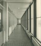 XII-68-04-4 Gang 1ste verdieping van het nieuwe politiebureau Marconiplein aan de Hudsonstraat.