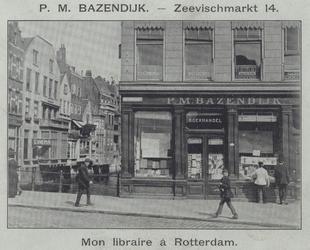 XIV-485 Boekhandel P.M. Bazendijk aan de Zeevischmarkt 14.