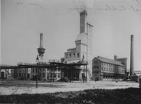 XV-89-1 Cokesgebouw van de gasfabriek aan de Galileistraat bij de Keilehaven.