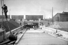 XVII-53-9-TM-16 Statentunnel bij de Beukelsdijk, tijdens de bouw van de tunnel.Afgebeeld van boven naar beneden:-9 t/m -16