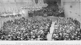 XXXIII-212-03 1901 (waarschijnlijk)De boerengeneraals Louis Botha en P. de la Rey in de concertzaal van de Doele aan de ...