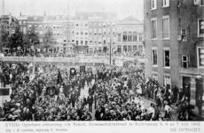 XXXIII-225-1 Gezicht op de optocht ter gelegenheid van de 18e uitvoering van het Nederlandsch Gymnastiek Verbond te ...