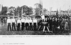 XXXIII-225-4 Gezicht op het exercitieveld Crooswijk, tijdens de 18e uitvoering van het Nederlandsch Gymnastiek Verbond ...
