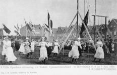 XXXIII-225-6 Gezicht op het schuttersveld Crooswijk, tijdens de 18e uitvoering van het Nederlandsch Gymnastiek Verbond ...