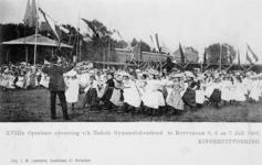 XXXIII-225-8 Gezicht op het exercitieveld Crooswijk, tijdens de 18e uitvoering van het Nederlandsch Gymnastiek Verbond ...