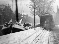 IX-2828-03 De Schiekade, in de winter, uit het zuidoosten.