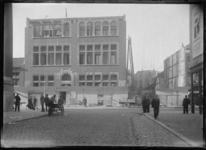 1976-11707 De Botersloot met de verbouwing van de Rotterdamsche Spaarbank.
