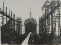 1976-14399 Tewaterlating van de Laurent Meeus bij de Rotterdamsche Droogdok Maatschappij.