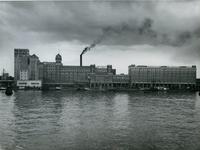 1976-14448 De meelfabriek Meneba aan de zuidzijde van de Maashaven.