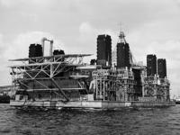 1976-14459 Booreiland Seashell, gebouwd door scheepswerf Gusto te Schiedam, op de Nieuwe Maas.