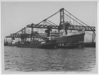 1976-14464 Het schip Arcola-Mendi en daarachter het schip Ordunte-Mendi tijdens het laden/lossen bij Cornelis ...