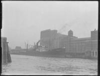 1976-6487 De meelfabrieken Meneba aan de zuidzijde van de Maashaven, bij de Brielselaan.