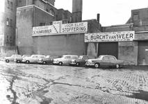 1976-6784 Gebouwen van Technitex, import- en exporthandel in textiel aan de Boompjes.Op de voorgrond het radium en ...