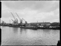 1976-6843 Loodsen van de firma Vijfvinkel's expeditiebedrijf aan de Binnenhaven.