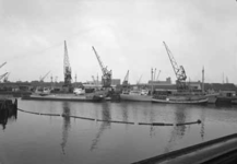 1976-8057 De Firma Vijfvinkel Expeditie Bedrijf, aan de Binnenhaven.