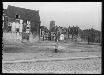 2008-5206 Afbraak van de binnenstad, Zandstraatbuurt, voor de bouw van het nieuwe stadhuis en postkantoor.