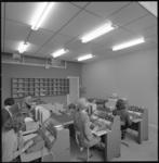 10101-3 Ruimte waar medewerksters gegevens invoeren voor computerverwerking.