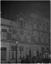 1015 Brand op de zolderverdieping van het pand Bellevoysstraat 12 waar textielgoederen lagen.