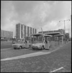10182-2 Overzicht van het toegangssysteem met slagbomen voor het parkeren in de Schouwburgpleingarage.