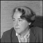 10380 Portret van mevrouw dr. M. Zeldenrust-Noordanus, voorzitter van de NVSH.