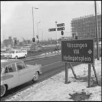 10587 Routebord richting Vlissingen op het Zuidplein.