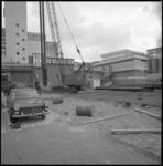 10827 Heistelling tussen het pand van H.H. de Klerk en Ter Meulen bij de start van de uitbreiding Lijnbaan en Lijnbaanplein.