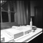 11080 Maquette waarop de uitbreiding van Museum Boijmans van Beuningen zichtbaar is aan de zijde van Museumpark ...
