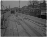 11160-2 Overzicht van de nieuwe tramtunnel van lijn 2 bij de kruising Randweg / Beijerlandselaan / Groene Hillelaan. Op ...