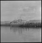 11450 Roll-on/roll-off schip 'Norwave' aan een steiger van North Sea Ferries in Europoort.