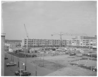 11843 Bouwlocatie studentenflat aan het Jacob van Campenplein; foto vanaf Stalpaertstraat - Danckertstraat.
