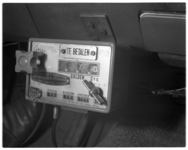 12151 Taximeter in een taxi van de Taxicentrale.