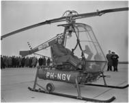 1255-1 De 'Kolibrie', een hefschroefvliegtuig met registratie PH-NGV van de Nederlandse Helikopter Industrie op ...