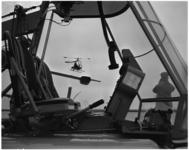 1255-2 De 'Kolibrie', een hefschroefvliegtuig met registratie PH-NGV van de Nederlandse Helikopter Industrie, op ...