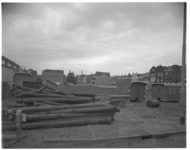 12572 De Bergstraat (Oude Noorden) na de sloop van oude panden.
