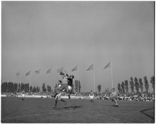 167 Spelmoment voetbalwedstrijd Xerxes - SVV.