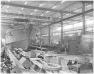 1771-1 Scheepsbouwhal in nieuwe bedrijfspand van metaalconstructiebedrijf Tans N.V. aan de Parallelweg in Krimpen aan ...