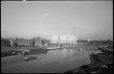 1866 Overzicht van de Coolhaven richting nieuwe Dijkzigt Ziekenhuis.