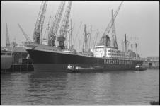 20013-14-1 Vrachtschip Eurymachus van de Marchessini Lines in de Merwehaven.