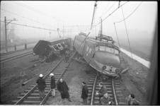 20018-63-7 Ontsporing na aanrijding tussen personentrein en goederentrein op het baanvak Lombardijen-Barendrecht.