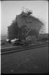 20033-86-15 Herstel zwaar beschadigde tanker Rona Star (na ontploffing bij Verolme Rozenburg) op scheepswerf ...