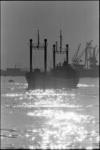 20719-6 Vrachtschip op de Nieuwe Waterweg.