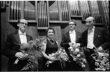 21021-5-14 Afsluiting van het openingsconcert van de Rotterdamse orgelmaand in de Grote Zaal van De Doelen. De vier ...